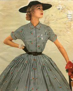 Jean Patchett in the Marshall Field Catalog, 1955 1950s Fashion Women, Retro Fashion, Womens Fashion, Fashion Vintage, 1950s Women, Fashion Moda, Look Fashion, Club Fashion, Elegant Woman