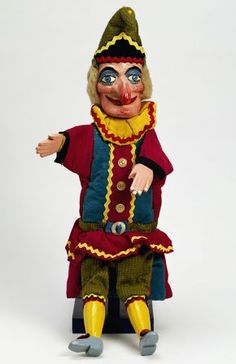 Photo of Punch puppet, Fred Tickner, about Museum no. © Victoria and Albert Museum, London Marionette Puppet, Puppets, James Ensor, Mary Poppins Costume, Punch And Judy, Jack In The Box, A Level Art, Creepy Dolls, Thats The Way