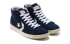 082de2a64ca7 CONVERSE Blue And White Star Player Chuck Taylor Mens Canvas Mid Sneakers -  ShopGoo Online Store