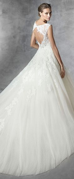 pleiada  lace wedding dresses pronovias 2016 collection