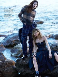 claudia wilkinson and hyun ji by georges antoni for elle australia september 2014