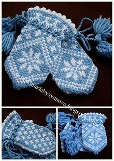 Crochet Baby Mittens Traditional child mitten, too cute! Baby Hat And Mittens, Crochet Baby Mittens, Knitted Mittens Pattern, Crochet Baby Blanket Beginner, Baby Knitting Patterns, Knitting For Kids, Knitting Projects, Brei Baby, Colors