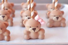 gorgeous teddy bear cake pops by My Sweet Indulgence (www.mysweetindulgence.com)