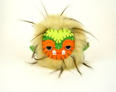 Handmade Stuffed Monster Toy by TheJaeBird on Etsy  This guys is an Itty Bitty Grump Grump - $25 and free domestic shipping!