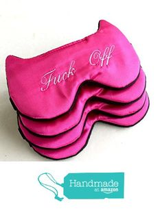 Handmade Hot Pink Satin Sleep Mask Blindfold Eye Mask Naughty Bachelorette Party…
