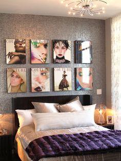 Magazine covers as decor