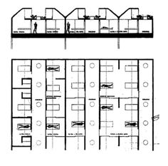 Le Corbusier in Venice; proposal for the hospital of Scuola Grande di San Marco. Le Corbusier, Hospital Plans, City Hospital, Healthcare Architecture, Interior Architecture, Ctrl C Ctrl V, Hospital Design, Architectural Section, North And South America