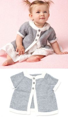 Baby Knitting Patterns Cardigan Free Knitting Pattern for a Top Down Baby Cardigan Baby Cardigan Knitting Pattern Free, Crochet Baby Cardigan, Booties Crochet, Crochet Hats, Knitting For Kids, Free Knitting, Little Princess, Baby Pullover, Knitted Baby Clothes