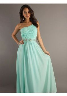 A-line One Shoulder Sleeveless Chiffon Prom Dresses With Beaded #FP281 - See more at: http://www.beckydress.com/prom-dresses.html?p=3#sthash.xnTQbL1c.dpuf