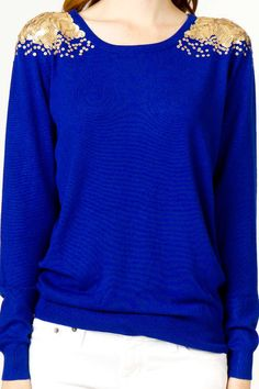A Little Sparkle Sweater Adds a Hint of Glitter to Your Outfit #fashion trendhunter.com