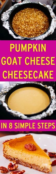 You know that time of year is coming where everything pumpkin comes out, so why not make pumpkin goat cheescake!
