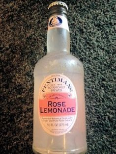 """""""Rose Lemonade""""....this Fentiman's  beverage is botanically brewed with pure, steam-distilled rose Otto oil from legendary Rose Valley."""