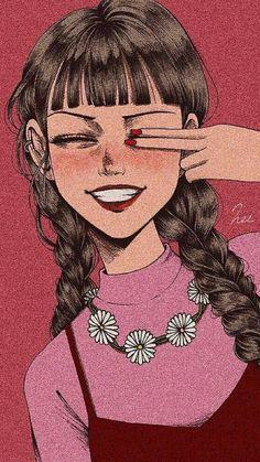 how to draw eyebrows Cartoon Kunst, Cartoon Art, Girl Wallpaper, Cartoon Wallpaper, Aesthetic Art, Aesthetic Anime, Aesthetic Drawing, Aesthetic Grunge, Wallpaper Aesthetic