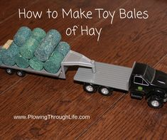 How to Make Toy Round Bales of Hay Backyard For Kids, Diy For Kids, Tree House Plans, Toy Barn, Toy Display, Farm Toys, How To Make Toys, Hay Bales, Homemade Toys