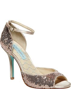 SB-WED SILVER SEQUIN women's evening high ankle strap