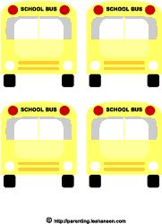 Free Printable Bus Tags, Name Tags  Just printed these for Evey so she knows which days she will ride the bus....will pin it to her book bag on those days