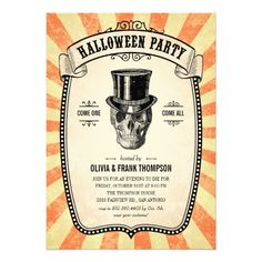 These formal vintage Halloween costume party invitations are black with a creepy off white design and a dark red and black back. Description from zazzle.com.au. I searched for this on bing.com/images