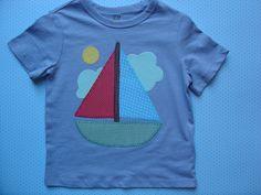 Camiseta con barco por LacasitadeCaperucita en Etsy