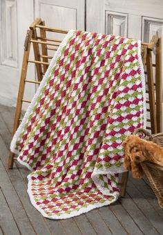 NaturallyCaron.com :: Baby Blanket Dewdrops