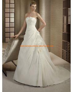 2012 Wunderschöne elegante Brautkleider aus Satin und Tüll A-Linie Brautmode für Prinzessin