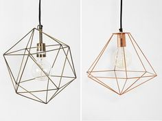 DIY Inspiration: Geometric Lights