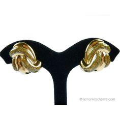 Retro Avon 1987 'Glitter Swirl' Goldtone Earrings #lemonkitscharms
