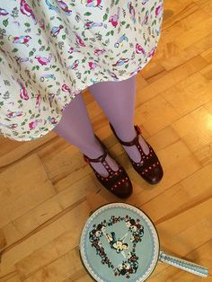 Our gorgeous Orla Dotty T-bar shoes from the AW14 Orla Kiely x Clarks collection as worn by 'dinoprincesschar' | Get your vintage inspired wardrobe ready for our 3rd collaboration and pick your favorite designs from our preview: http://www.clarks.co.uk/c/womens-orla-kiely