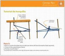 cómo tejer tiras en horquilla-Tejiendo Perú