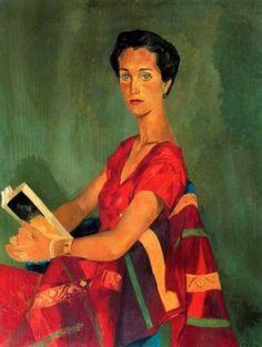 """""""Retrato de Mercé Rubió,  1956"""". Óleo sobre tela. 121 x 94 cm. Colección Enric Rosselló-Mercé. Barcelona. España."""