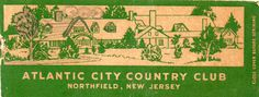 Beach vintage matchbook covers   ... City Country Club, Older Matchbook Cover - Store Item# BEACHGUY596