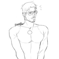 "baneme-art: "" Work in progress. Tony and glasses and undersuit am I right """