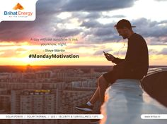 A day without sunshine is like, you know, night. - Steve Martin #MondayMotivation Visit: www.brihat.in