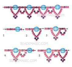Free pattern for beaded necklace Silver Moon | Beads Magic
