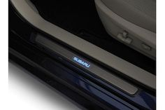 """#Outback Side Sill Plates- Illuminated. Requires Adapter Harness. """"SUBARU"""" emits a blue glow each time one of the front doors are opened. MSRP: $205.00 #subaru #parts #accessories"""