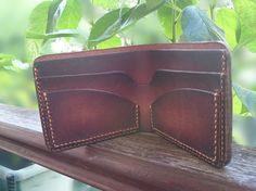 Leather Wallet - Men's Wallet - Horween Chromexcel Leather - Made To Order - Handmade Wallet - Colorado - Two Tone Wallet - Bifold.