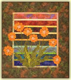 Mystic Blooms quilt pattern using fusible applique