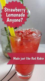 Sweet and Tart Strawberry Lemonade (Red Robin Strawberry Lemonade) | Copycat Restaurant Recipes