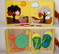 Quiet Book Busy Book Activity Book by CuteGiftsAndCrafts on Etsy
