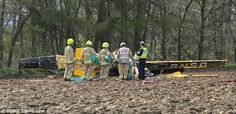 Two dead as plane crashes into field in North Yorkshire, England. @MailOnline http://www.dailymail.co.uk/news/article-3567029/Two-feared-dead-plane-crashes-field-North-Yorkshire.html