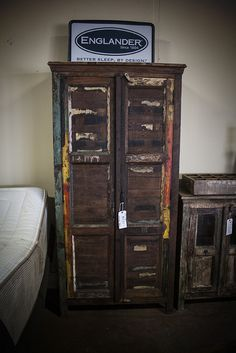 Reclaimed Hardwood Shutter Armoire. Interested in this piece? Contact us for more info: 405-947-7710