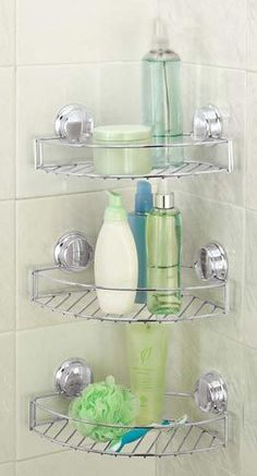 Stick 'N' Lock Storage Basket, Shower Organizer | Solutions