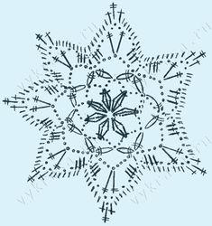 Crochet Star Patterns, Crochet Snowflake Pattern, Crochet Stars, Crochet Snowflakes, Crochet Diagram, Crochet Motif, Crochet Doilies, Crochet Flowers, Crochet Christmas Trees