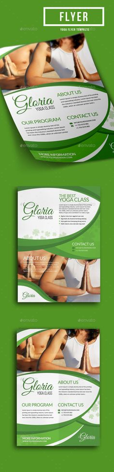 Yoga Flyer Bundle  Yoga Flyer Template And Template