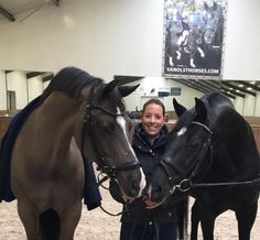 Charlotte Dujardin with Son and Dad Valegro & Negro - No idea who she is, but the horses are pretty
