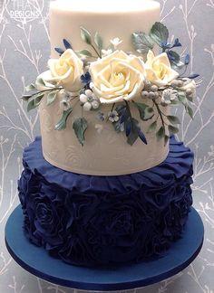 Navy Blue, Cake, Desserts, Wedding, Pie Cake, Valentines Day Weddings, Food Cakes, Hochzeit, Cakes
