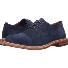 Cole Haan Willet Cap Oxford (Blazer Blue Suede) Men's Lace up casual... (1,225 GTQ) ❤ liked on Polyvore featuring men's fashion, men's shoes, men's dress shoes, blue, mens caps, cole haan mens shoes, mens oxford shoes, mens suede oxford shoes and mens blue dress shoes