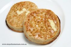 This homemade crumpets recipe was hand written inside Mum's recipe book - so I'm not sure who's it is!