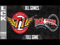 SKT vs KT LCK Playoffs Semifinal Round 3 Summer Split 2017 SKT T1 vs KT Rolster