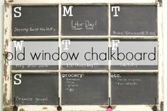 Old Window Chalkboar