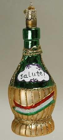Merck Family's Old World Christmas Ornament, Chianti Bottle, Replacements Ltd